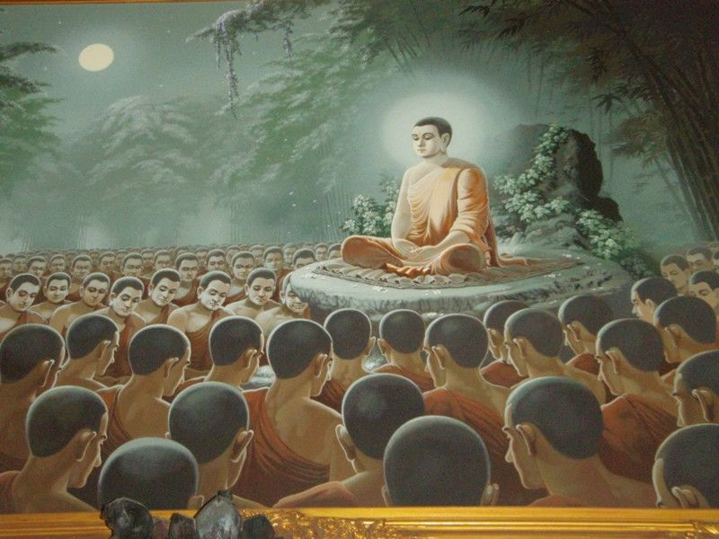Buddha and disciples