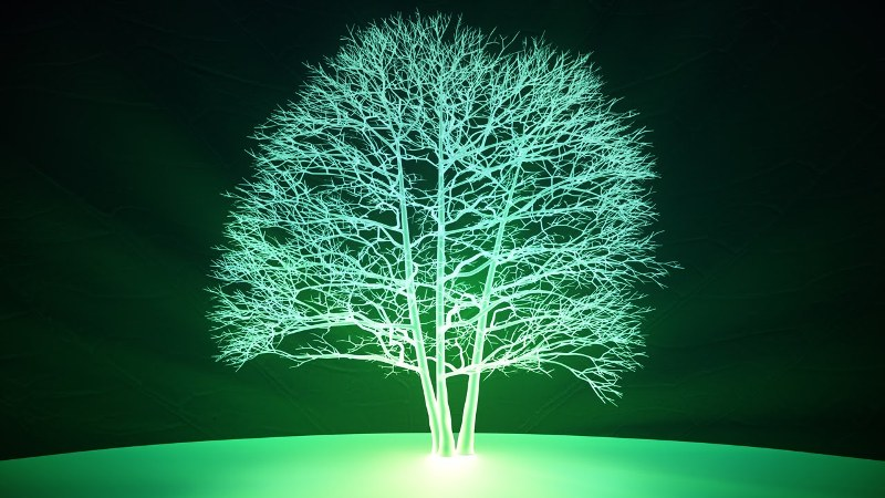 Glowing plant cover