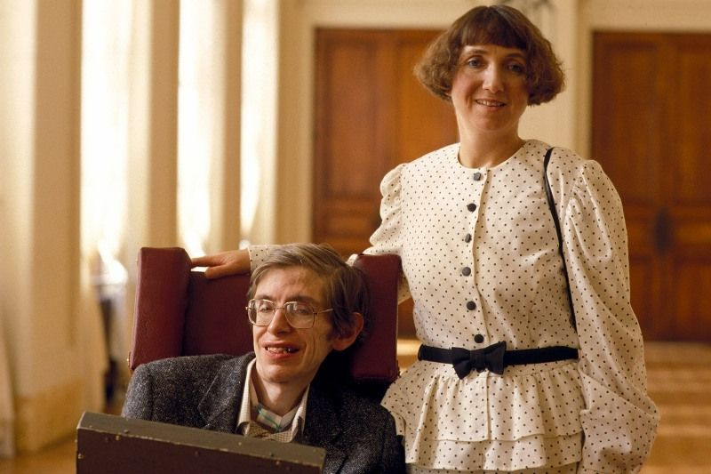Hawking with wife