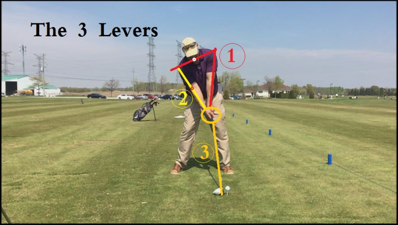 Lever of golf