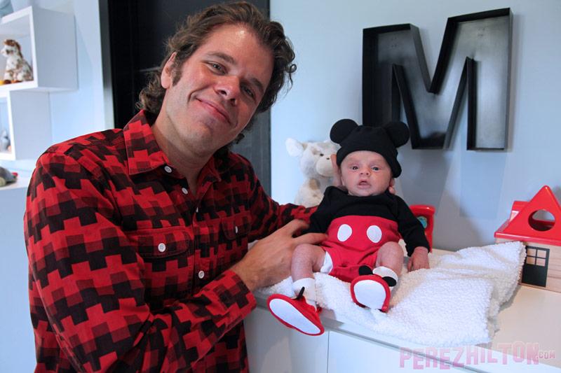 Perez Hilton with son