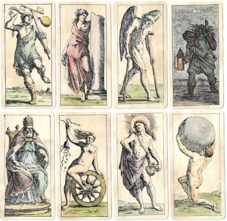Tarot card old