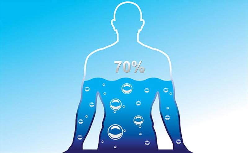70% water