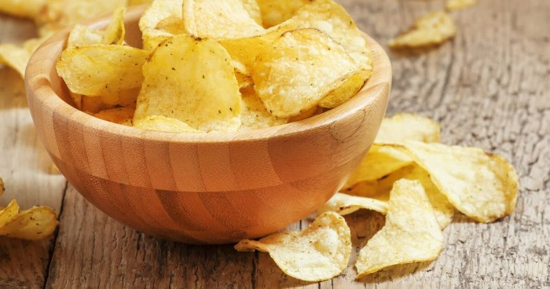 Potato chips-compressed