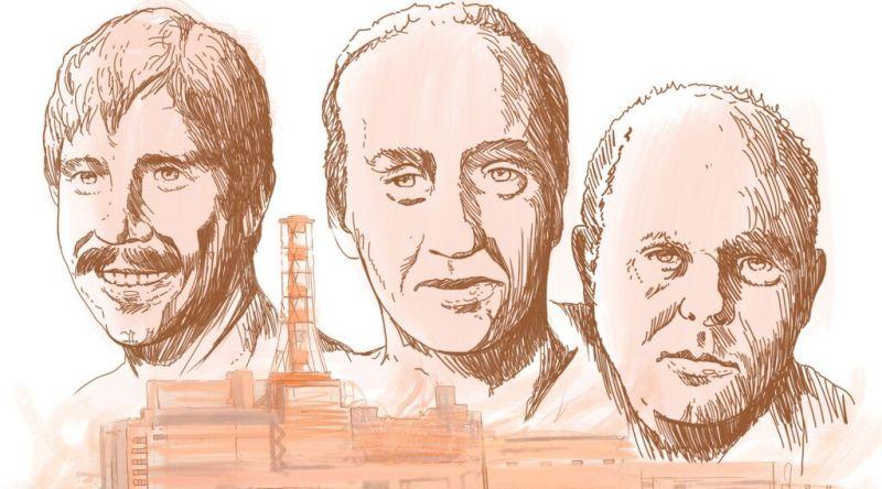 Sketch of Chernobyl three