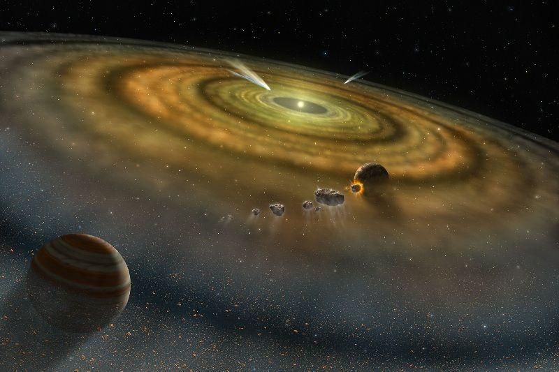 Solar system formation Earth age