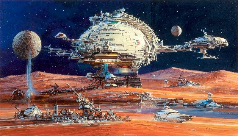Space settlement cover